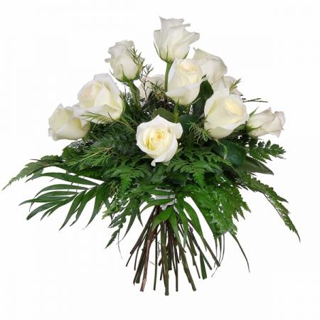 ramo 12 rosas blancas
