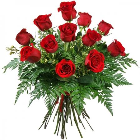 ramo de 12 rosas rojas amor