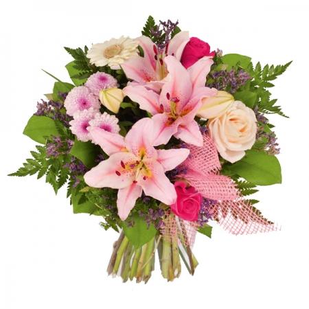 ramo de flores color rosa