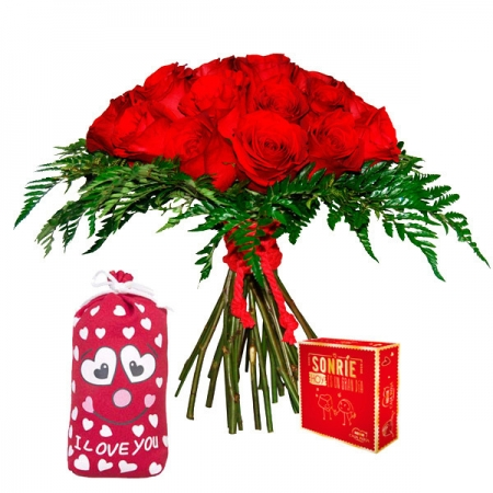 ramo de rosas bombones