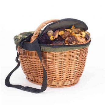 cesta mimbre con tapa de cremallera