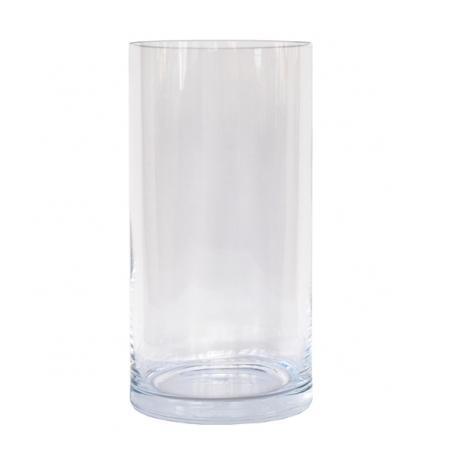 jarron cristal 26 cm recto