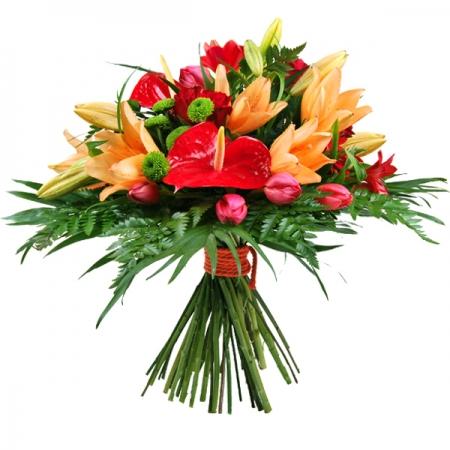 ramo de flores variadas pasion