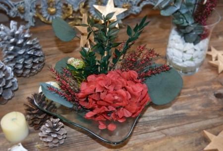 centro de mesa con corales