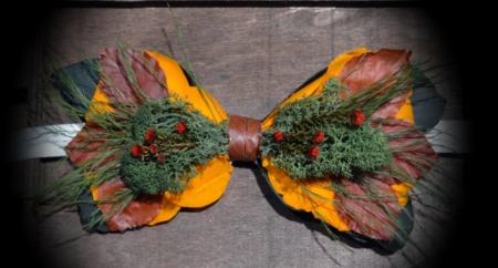 pajarita flores preservadas superstar madera