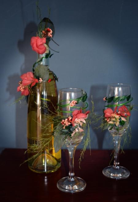 copas vino flores preservadas 1