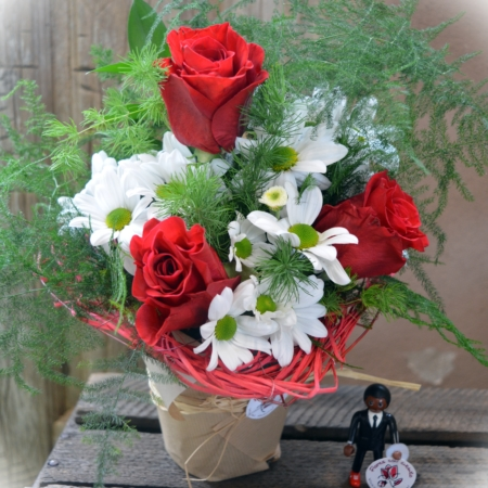 corazon rosas margarita tamaño
