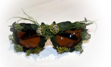 gafas flores preservadas blanco