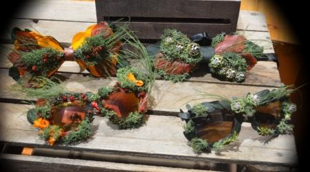 gafas pajaritas flores preservadas surtido