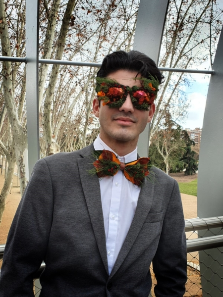 pajarita gafas flores preservadas superstar
