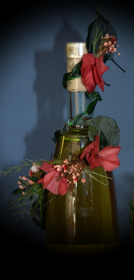 vino flores san valentin