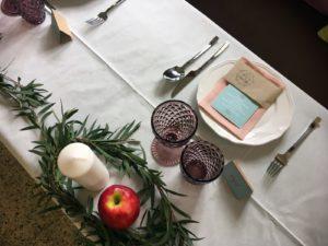 decoracion mesa guirnalda