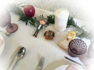 decoracion mesa guirnalda eucalipto