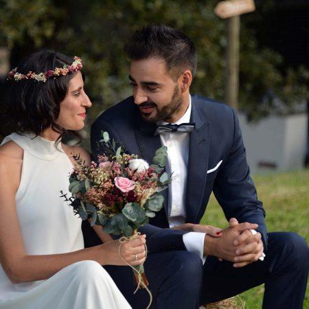 Ramo de novia y corona