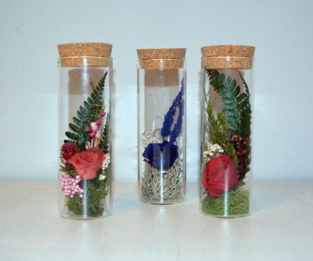 mensaje botella flores