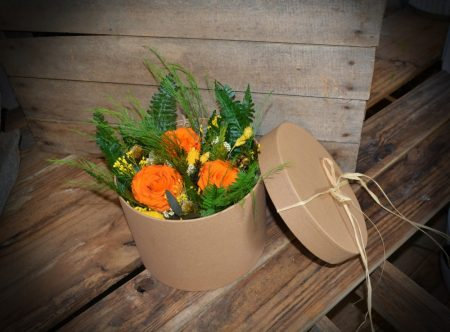 caja rosas eterna naranja