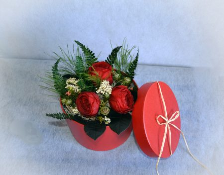caja rosas rojas eterna